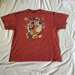 Men's T-Shirt Nickelodeon Ren and Stimpy Rewind XL